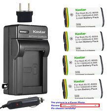 Kastar Battery AC Charger for Kodak KLIC-8000 & Kodak Z712 IS Kodak Z812 IS