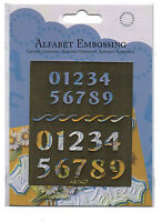 ALFABET/EMBOSSING/Numbers/Stencil/Emboss/AB1407/ 2 SIZES