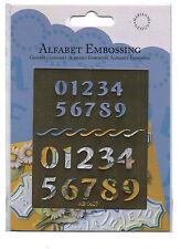 Alfabet/embossing/numbers / stencil/emboss/ab1407 / 2 Tamaños