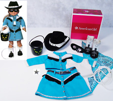 American Girl Doll ROOTIN TOOTIN COWGIRL COSTUME Horse Outfit Halloween Mask Box
