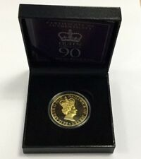 2016 90th Anniversary Birth of Queen Elizabth Jersey £5 Gold Plated Proof Crown