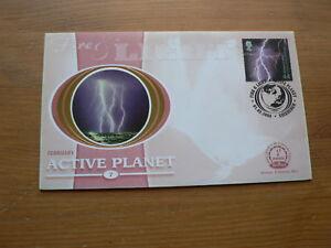 2000 Benham Silk FDC: Active Planet, Fire & Light