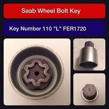 """Genuine Saab locking wheel bolt / nut key FER 1720 110 """"L"""""""