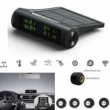 Car TPMS Tire Tyre Pressure Monitor System Solar Energy LCD Display + 4 Sensors