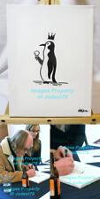 *WHITE STRIPES* Rob Jones Signed Original 9x12 Canvas Penguin Sketch EXACT PROOF