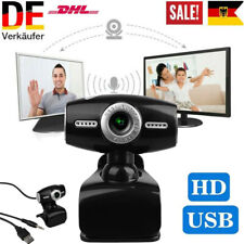 USB 2.0 3.0 Webcam Stand Kamera HD Camera Mit Mikrofon für Desktop Laptop PC DE