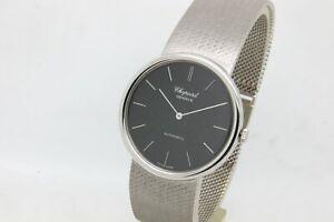 Chopard 18k White Gold Gents 34 mm Automatic Bracelet Watch, With Original Box