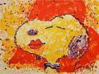 """Tom Everhart """"A KISS IS JUST A KISS""""  """"SNOOPY"""" """"PEANUTS"""" Lithograph S/N + COA!"""