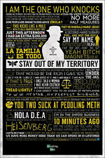24x36 Breaking Bad Quotes Typograhic Poster shrink wrapped