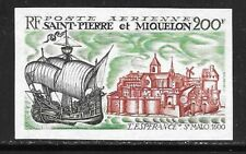 St. PIERRE & MIQUELON Sc C43 NH IMPERF ISSUE OF 1969 - SHIPS
