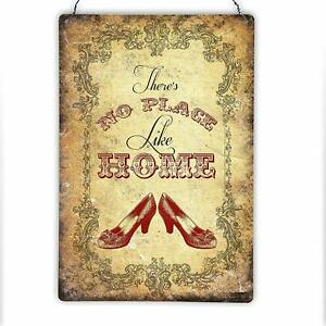 Wizard of Oz Inspired Hanging Vintage Style Metal Sign Plaque Dorothy 200x300mm