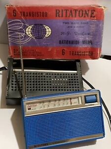 VINTAGE RITATONE 2-BAND  RADIO  AM(MW)-LW. 1960S-VERY RARE+CASE+box