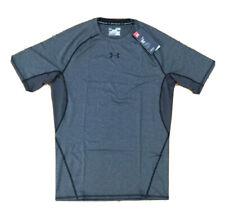New Under Armour Men's Gray Heatgear Compression Shirt Sz Xl (C7-6)