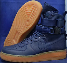 Nike SF Air Force 1 Midnight Navy Blue Gum AF1 SZ 13 ( 864024-400 )