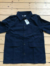 BAKERS/CHORE/WORKER JACKET IN DARK NAVY TWILL. BRAND NEW WITH TAGS.