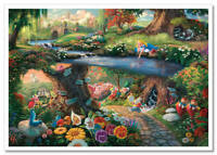 Thomas Kinkade DISNEY-Alice in Wonderland Fairy-tale cartoon postcard modern