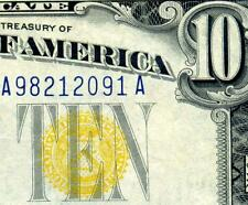HGR SUNDAY 1934A $10 N.Africa ((Blue/Yellow)) Appears GEM UNCIRCULATED