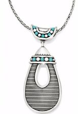 Brighton NWT INDIE Turquoise Silver Pendant Necklace