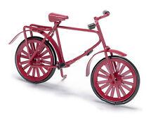 Piccolo Bambino Rosso Bicicletta, DOLL HOUSE miniatura, scala 1.12