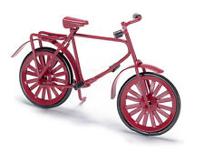Pequeño Niño Bicicleta Roja, muñeca casa miniatura, 1.12 Escala