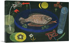 ARTCANVAS Around the Fish 1926 Canvas Art Print by Paul Klee