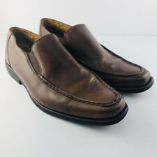 Sandro Moscoloni Men's Brown Soft Leather Slip On Loafer Dress Shoes Sz 12D