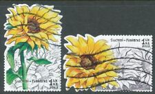 Finland 2012 Used Set of 2 Stamps - Sunflowers - Flowers