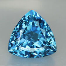UNUSUAL 12mm TRILLIANT-FACET SWISS-BLUE NATURAL BRAZILIAN TOPAZ GEM (APP £107)