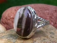 Silverandsoul Pelle JASPER 925 Anello Argento Dimensioni R * noi 8,75 handcrafted gioielli