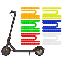 For Xiaomi M365 Pro Electric Scooter Front Rear Wheel Sticker Cover Reflector 4x