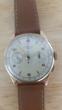 Vintage Suisse Chronographe 18k gold watch