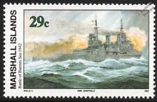 WWII 1942 HMS SHEFFIELD (C24) Cruiser Warship Stamp (Battle of the Barents Sea)