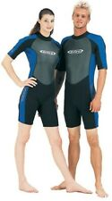 Tilos Shorty Spring Wetsuit 2mm Size Small Scuba Diving Snorkeling Black/ Yellow