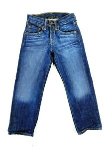 Levi Strauss & Co Kids Blue Flat Front Quality Clothing Straight Jeans Sz 24x22