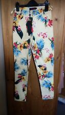 Motel Rocks XS Funky Floral Jeans