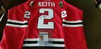 CCM size 52 Red Chicago Blackhawks autographed/signed Duncan Keith JSA COA