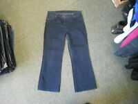 "Marks & Spencers Bootcut Jeans Size 14 Leg 26"" Faded Dark Blue Ladies Jeans"