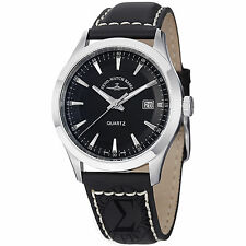 Zeno Men's VintageLine Black Dial Black Leather Strap Watch 6662-515Q-G1