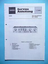Service Manual-Anleitung für Grundig XV 5000  ,ORIGINAL