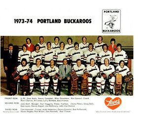 1973 1974 PORTLAND BUCKAROOS 8X10 TEAM PHOTO OREGON WHL USA HOCKEY
