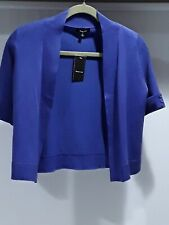 Verve Ami womens L periwinkle knit bolero short sleeve no closure sweater NWT
