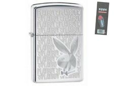 Zippo 28545 playboy high polish chrome Lighter + FLINT PACK