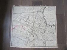 PARIS RARE PLAN 18ème DES FONTAINES DE LA VILLE DE PARIS 1735 TRAITE DE POLICE