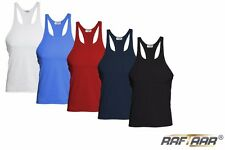 Men's Stringer Gym Vest Body Building Muscle Stringer BLACK/RED/BLUE/WHITE/NAVY