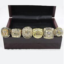 2000/2001/2002/2009/2010/2016 6pcs/set Lakers Championship Rings Size 11
