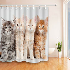 Cute little kitten Fabric Bathroom Shower Curtain-waterproof-180*180cm new