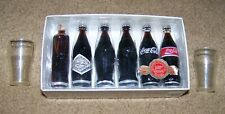 Evolution Coca Cola Contour Bottle 1899-1999 Set of Miniature Bottles 2 Toy Cups