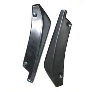 2pcs Car Rear Bumper Lip Diffuser Splitters Canard Anti-scratch Strip Universal