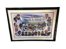 Ultimate Running Backs 24 signed litho FRAMED Jim Brown Sayers Campbell /200 COA