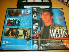 VHS *Weeds* 1987 Australian CBS FOX Video Drama - Rare Time Coded Dealers Issue